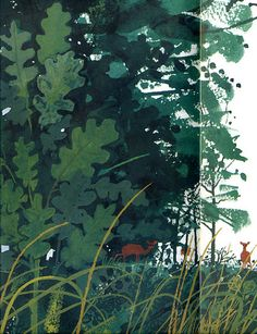"Illustration for ""The Great Oak"" by Elizabeth and Gerald Rose, via Flickr"
