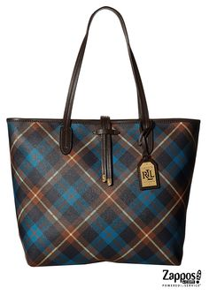 Don't adjust your glasses, your eyes are not playing tricks on you. The preppy style of the LAUREN by Ralph Lauren Crawley Plain Unlined Tote is clean and smart. Made of polyurethane boasting a classic tartan plaid print. Features a top-zip closure. interior zip pocket and dual shoulder straps.