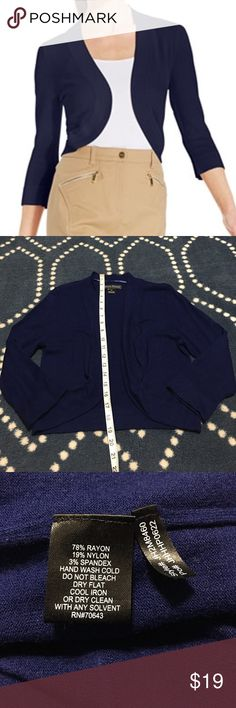 Jessica Howard Navy Shrug Jessica Howard navy Shrug, size medium. Jessica Howard Sweaters Shrugs & Ponchos