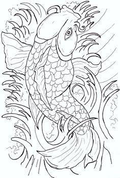 koi fish drawings | Japanese Koi Fish Tattoo Flash by ~Caylyngasm on deviantART