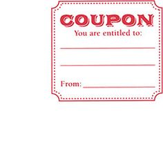 Entitled Coupon Rubber Stamp