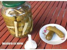 #Castraveti murati in saramura - Bucataria cu noroc Noroc, Pickles, Cucumber, Pickle, Zucchini, Pickling