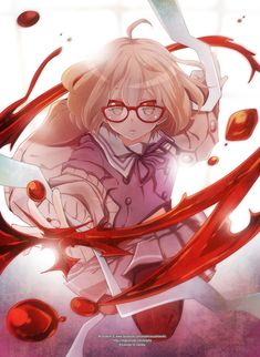 Kyoukai no Kanata is so.... freaking awesome *.* I just die from listening to the opening and ending songs. PLUSSSS THE CHARACTER DESIGN IS...JUST.... MWAHH :* ♥