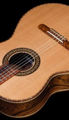 Bellucci Guitars - Pau Ferro B&S, Cedar top, The Tiger Concert Classical Guitar Guitar Building, Beautiful Guitars, Mandolin, Ukulele, Classical Guitars, Music Instruments, Acoustic Guitars, Shelf Ideas, Concert