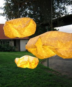 {Origami Lamp} by Mika Barr - this is so unique!