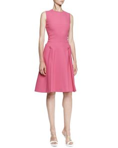 Sleeveless A-Line Crepe Dress, Bougainvillea by Alexander McQueen at Neiman Marcus.