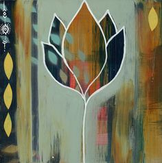 Unfold Mini created with Flora Bowley, Abstract Nature, Small Paintings, Small Art, Office Art, Painting Inspiration, Art Lessons, 1, Art Camp