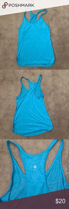 Lululemon tank Sky blue Lululemon Razorback tank size 4 lululemon athletica Other