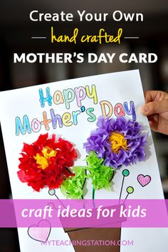 Preschool Kids Craft Activity - Make a Simple Mother's Day Homemade Card