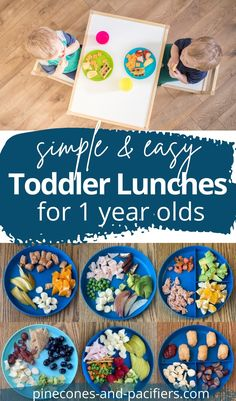 A list of 15 quick and simple lunch ideas based on what my one-year-old toddler has been eating for lunch. Easy toddler lunch ideas you can make in a few minutes. #toddlerlunch #toddlerfood #toddlermeals #toddlermealideas Easy Toddler Lunches, Healthy Toddler Meals, Easy Healthy Recipes, Baby Food Recipes, Kids Meals, Toddler Food, Healthy Food, Baby Weaning, Led Weaning