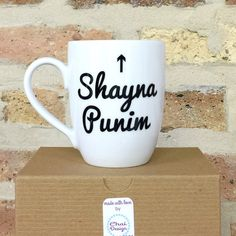 Shayna Punim READY TO SHIP Pretty Face Mug by myChaiDesigns