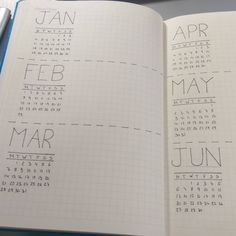 Planning my new bullet journal for next year! So far it looks amazing  #bulletjournal #studyspo #year2016