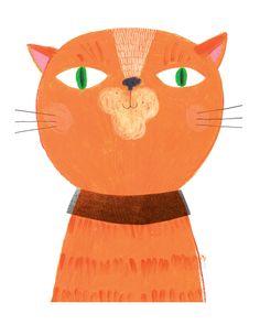 sarahillustrator.   Red cat