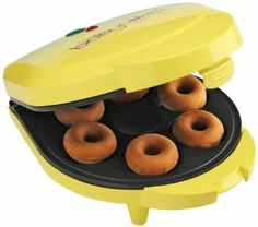 Babycakes DN-6 Mini Doughnut Maker, Yellow, 6 Donut: Christmas Gifts