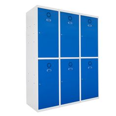 Taquilla metálica modular económica ECOT-40/3, de tres cuerpos y dos puertas