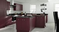 Painted Kitchen Aubergine