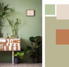 Arredare le pareti con il colore: il verde salvia e un cocktail anni 50.