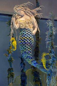 #lbys - I HAVE to get down there just to see this!!! #yarnart We're doing a series of blog posts throughout the summer to introduce all the creatures in our new window display! Daphne hails from the icy waters off the coast of Copenhagen, Denmark – also the h...