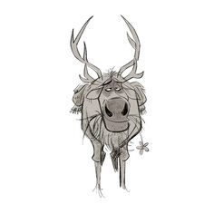 Creature Design, Various Artists, Reindeer, Moose Art, Character Design, Creatures, Sketches, Animation, Illustration