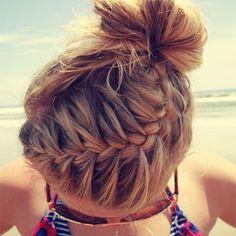 Peinado de trenza y coleta para ir a la playa | Peinados modernos ...