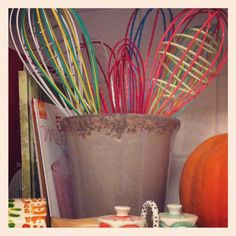 My small collection of whisks displayed on countertop. Most from @Anthropologie