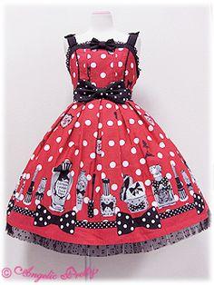 Angelic Pretty - Fantastic Dolly JSK - Red