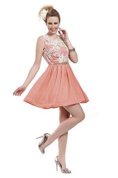 Φόρεμα διαφάνεια mini σε γραμμή Cinderella με λεπτομέρεια από δαντέλα  ανάγλυφη στο μπούστο και έξτρα ζώνη d431688e9cc