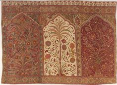 Tent Hanging (qanat) Unknown artist, Indian, Deccan region; Golconda area Tent Hanging (qanat), ca. 1645 Cotton plain weave, mordant and resist-dyed, hand painted 37.010
