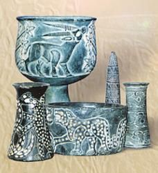 jiroft, Iran artifacts .... notice pointed cone to rear