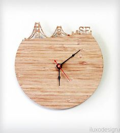 San Francisco Modern Wall Clock | Gifts Local Pride | iluxo Jewelry and Design | Scoutmob Shoppe
