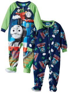 AME Boy/'s 4T Thomas and Friends Team Thomas Fleece Footed Blanket Pajama Sleeper