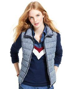 Tommy Hilfiger Printed Quilted Vest - Vests - Women - Macy's