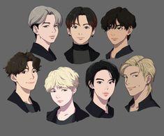 Cute Drawings Of Boys Guys Bts Chibi, Garçon Anime Hot, Kpop Drawings, Aesthetic Drawing, Bts Lockscreen, Bts Fans, Kpop Fanart, Foto Bts, Bts Pictures