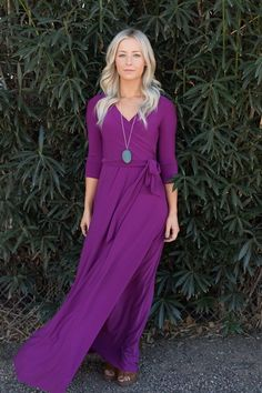 These gorgeous solid wrap maxi dresses are over 40% OFF and going fast!!