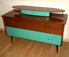 Mid Century Modern dresser, sideboard. Teak and Melamine.