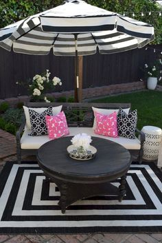 When you plan to invest in patio furniture you want to find some that speaks to you and that will last for awhile. Although teak patio furniture may be expensive its innate weather resistant qualit… Outdoor Rooms, Outdoor Decor, Outdoor Living, Outside Patio, Spring Garden, My New Room, Patio Design, Backyard Patio, Patio Ideas