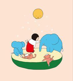 絵とおはなし「あそぼう!」 さあ、あそぼう! 何してあそぶ? なんだっていいよ。 みんなが好きなことして いっぱいあそぼう! Family Guy, Fictional Characters, Fantasy Characters, Griffins