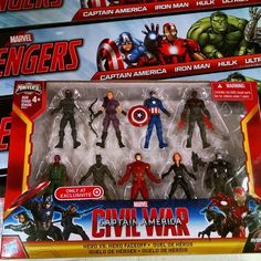 Yukky 2 Inch Marvel Captain America Civil War Figures Hitting Target.  #marvel #captainamerica #civilwar #ironman #blackpanther #hawkeye #falcon #vision #warmachine #blackwidow #wintersoldier #hasbro #FLYGUY #FLYGUYtoys #toys #toystagram #twitter #googleplus