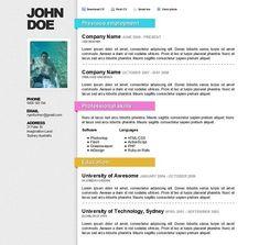 Proxima Online Resume Template Resume Template Cv  Premium