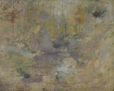 John Henry Twachtman - Hemlock Pool (Autumn) 1894
