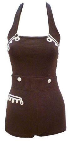 Bathing Suit    1930s    1stdibs.com....would wear it as a romper now....so cute