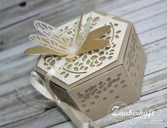 Zauberhaft-handgemacht, Fensterschachtel, Libellen, Li(e)belleien, Verpackung Cute Gift Boxes, Cute Gifts, Stampin Up Anleitung, Envelope Box, Explosion Box, Wedding Boxes, Stamping Up, Gift Packaging, Scrapbooking