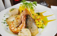 Grilled Caribbean Seafood at Coco Bamboo Bar