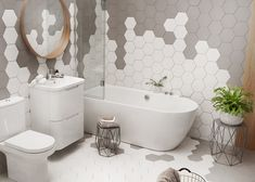 Inspiration for gorgeous but practical tiny bathrooms Tiny Bathrooms, Upstairs Bathrooms, Bathroom Spa, Family Bathroom, Bathroom Renos, Bathroom Interior, Bathroom Ideas, Modern Bathtub, Modern Bathroom