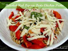 Roasted Red Pepper Pesto Chicken Pasta