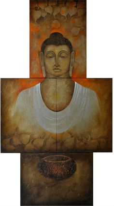 By Artist : Parshvanath V. Nandre|| Medium : Oil on Canvas|| Size : 36 X 66
