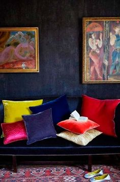 mixture of Bold pillows