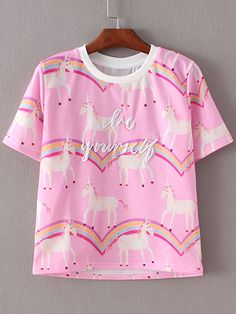 T-Shirt mit Milch Bottle Druck | Pink, Shirts and Shops