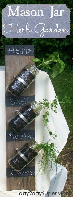 Euer eigener kleiner Kräutergarten - ganz platzsparend. #Vertical #Herb #Garden