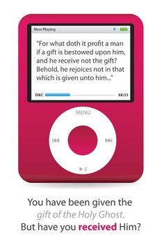 Parable of the Pink iPod - How do I receive the gift of the Holy Ghost